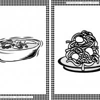 Soup and Spaghetti Flash Cards