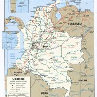 South America- Colombia Political Map