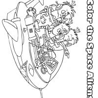 Space Aliens Coloring Sheets