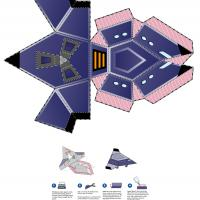 Printable Space Ship Paper Toy - Printable Stuff - Misc Printables