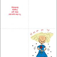 Printable Special Birthday Girl Cards - Printable Birthday Cards - Free Printable Cards