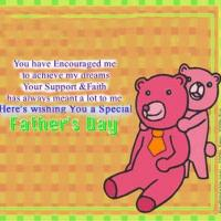 Printable Special Father Bear And Child Hug - Printable Fathers Day Cards - Free Printable Cards