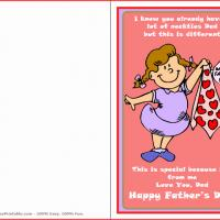 Printable Special Necktie - Printable Fathers Day Cards - Free Printable Cards