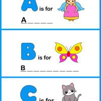Printable Spell the Word - ABC - Printable Preschool Worksheets - Free Printable Worksheets