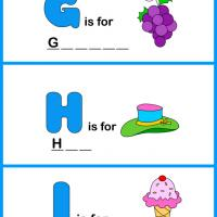 Printable Spell the Word - GHI - Printable Preschool Worksheets - Free Printable Worksheets