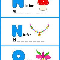 Printable Spell the Word - MNO - Printable Preschool Worksheets - Free Printable Worksheets