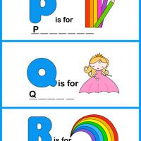 Printable Spell the Word - PQR - Printable Preschool Worksheets - Free Printable Worksheets