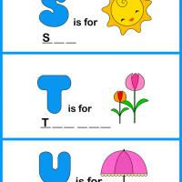Printable Spell the Word - STU - Printable Preschool Worksheets - Free Printable Worksheets
