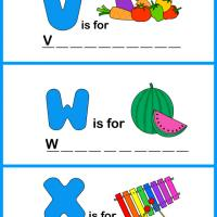 Printable Spell the Word - VWX - Printable Preschool Worksheets - Free Printable Worksheets