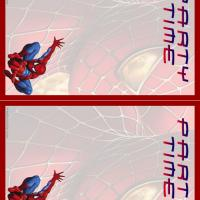 Printable Spiderman Party Time Invitations - Printable Party Invitation Cards - Free Printable Invitations