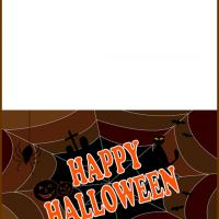 Printable Spiderweb Halloween - Printable Greeting Cards - Free Printable Cards