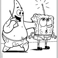 Spongebob And Patrick Playing The Radio