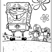 Printable Spongebob Blushing - Printable Spongebob - Free Printable Coloring Pages
