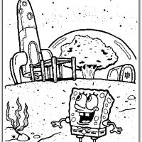 Printable Spongebob Going To Sandy Cheeks House - Printable Spongebob - Free Printable Coloring Pages