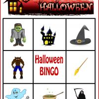 Spooky Halloween Bingo Card 1