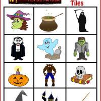 Spooky Halloween Bingo Tiles