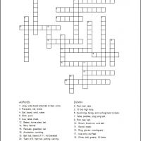Printable Sports Crossword - Printable Crosswords - Free Printable Games