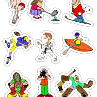Printable Sporty Stickers - Printable Stationary - Free Printable Activities
