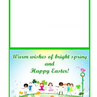 Printable Spring and Easter Wishes Card - Printable Easter Cards - Free Printable Cards