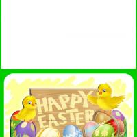 Spring Chicks Easter Card