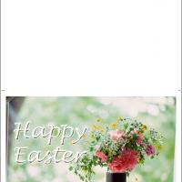 Printable Spring Flowers In A Vase - Printable Easter Cards - Free Printable Cards