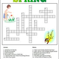 Printable Spring Time Crossword - Printable Crosswords - Free Printable Games