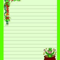 Printable St. Patrick Stationary - Printable Stationary - Free Printable Activities