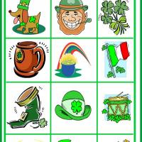 St. Patrick's Day Bingo Tiles