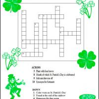 Printable St. Patrick's Day Crossword Puzzle - Printable Crosswords - Free Printable Games
