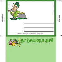 Printable St. Patrick's Day Envelope - Printable Stationary - Free Printable Activities
