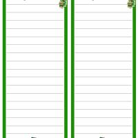 Printable St. Patrick's Day Grocery List - Printable Stationary - Free Printable Activities