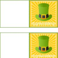 Printable St. Patrick's Day Irish Hat Mini Cards - Printable Greeting Cards - Free Printable Cards