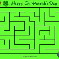 Printable St. Patrick's Day Maze - Printable Mazes - Free Printable Games