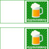 St. Patrick's Day Mug Mini Cards