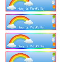 St. Patrick's Day Rainbow Bookmarks