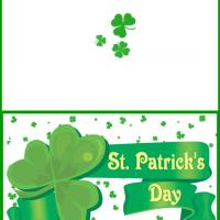 Printable St. Patrick's Day Shamrock Filled Card - Printable Greeting Cards - Free Printable Cards