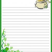 Printable St. Patrick's Day Stationary - Printable Stationary - Free Printable Activities