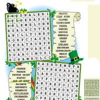 Printable St. Patrick's Day Word Search - Printable Word Search - Free Printable Games