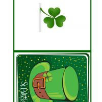 Printable St Patricks Hat Mini Card - Printable Greeting Cards - Free Printable Cards