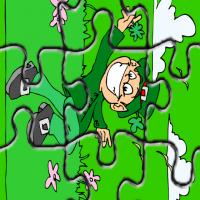 Printable St. Patty's Day Fun Green Puzzle - Printable Puzzles - Free Printable Games