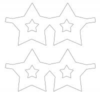 Star Shaped Mask Template