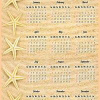 Printable Starfish in the Beach 2013 Calendar - Printable Yearly Calendar - Free Printable Calendars