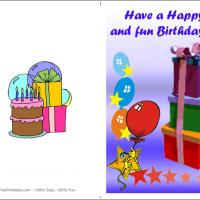 Printable Stars And Gifts - Printable Birthday Cards - Free Printable Cards