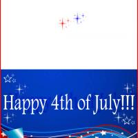 Printable Stars and Stripes 4th of July - Printable Greeting Cards - Free Printable Cards