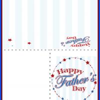 Printable Stars and Stripes Father's Day Card - Printable Fathers Day Cards - Free Printable Cards