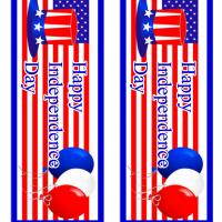 Printable Stars and Stripes Hat and Balloons - Printable Bookmarks - Free Printable Crafts