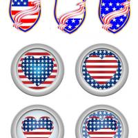 Stars and Stripes Stickers