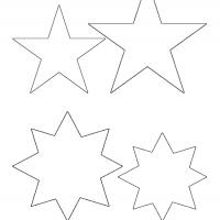Printable Star Shaped Template - Printable Templates - Free Printable Activities