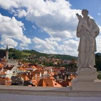 Statue in Cesky Krumlov