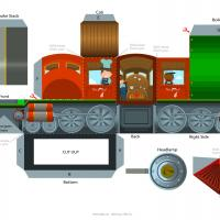 Steam Train Engine Paper Craft